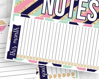 POPco Signature Collection Notes Pages Kit - Planner Stickers