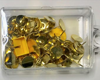 Needlepoint Brass Thumb Tacks with Remover