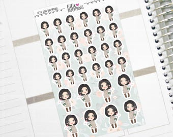 "LUNA - ""I Love Coffee"" Series Stickers - Decorative Planner Stickers"