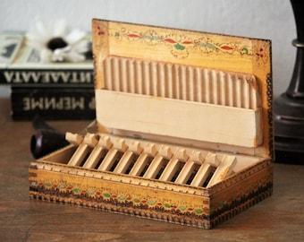 Wooden Cigarette Box - Cigarette Dispenser - Cigarette Box Holder - Gift for Him - Gift for Dad - Gift Idea - Gift For Smokers