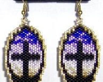 Forgiven - Brick Stitch Earrings Beading Pattern