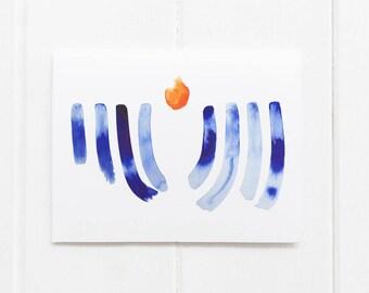 Abstract Menorah