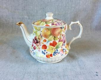 Vintage Windsor Fruit Pattern Teapot