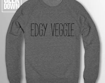 Edgy Veggie *vegan* sweatshirt // vegan jumper / vegan clothing / veggie / vegetarian / animal rights