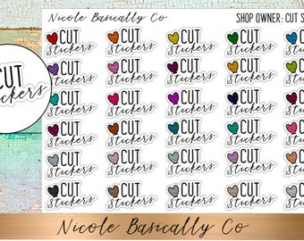 Shop Owner- Cut Stickers Planner Stickers