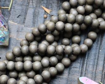 6mm beads, rustic gray beads, round beads, wood beads, woodland beads, boho beads,