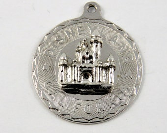 Castle at Disneyland California Sterling Silver Charm of Pendant.