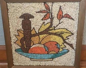 Vintage Fruit Bowl Gravel Art
