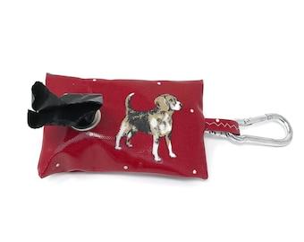 Poo Bag Holder – Poop Bag Holder – Beagle Owner gift - Dog Walking Bag - Dog Poo Bag Holder - Poo Bag - Dog Bag - Beagle - Dog Poop Bags