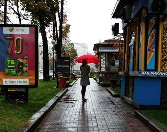 Ukraine Print, Kiev Print, Ukraine, Kyiv Print, Ukraine Art, Red Umbrella, Ukraine Poster, Ukrainian Print, Ukraine Gift, Ukraine Wall Art