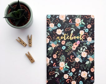 Floral illustrated notebook