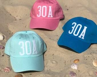 Handmade Highway 30A Hat - Mint, Pink, or Turquoise Options