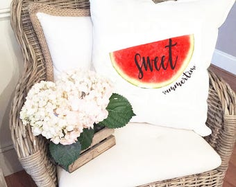 Sweet Watermelon Pillow Cover