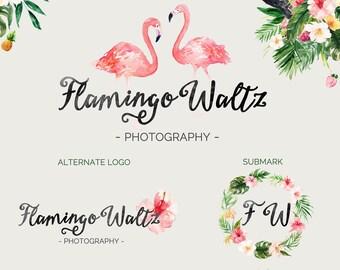 Pink Waltz | Photograph Premade Logo Watermark Design | Logo Branding Package | Blog Header | Marketing Kit | Wedding Bouquet Ornament
