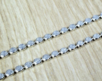 """Rhodium Filled White Gold Filled Chain 17"""" Inch CS3 Item#080703001641"""