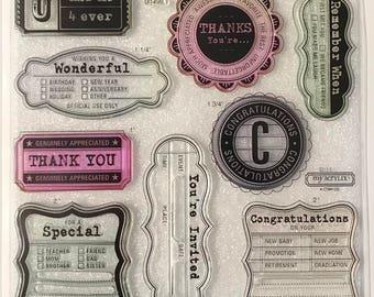 D1496 / Art Philosophy / Stamp Set / Close To My Heart / CTMH / Acrylic Stamp Set / Clear Stamp Set / Cricut Collection / Congratulations