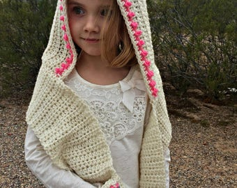 Unicorn Hood PATTERN - Crochet Pattern - Unicorn Hooded Scarf - Hood Pattern - Unicorn Pattern - Unicorn Hoodie