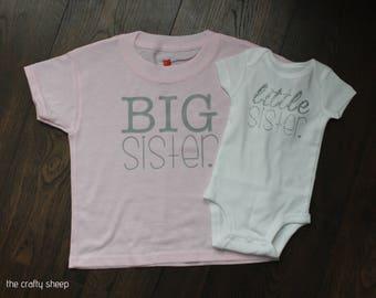 Big Sister Little Sister Tee Set