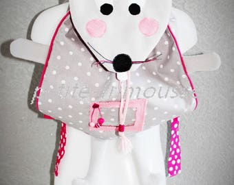 """Backpack """"Miss mousy"""" Adorable for nursery, nursery, out... """"Made to order""""."""