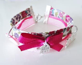 bracelet Liberty multi-rangs multicolore rose