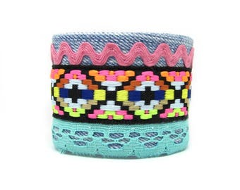 Ethnic cuff bracelet - Aztec Bracelet makes by craftsmen - Jewels hand-made