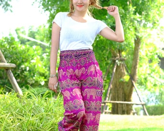 Hippie pants harem pants elephant pants boho pants purple