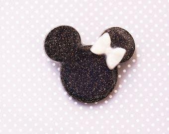 Disney Brooch -  After Dark Date Night Black and White Minnie Brooch