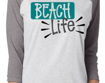 Beach Life Svg; SVG; DXF; PNG; Digital Download; Vector Graphic; Cut File; Beach Svg; Shirt Design; Cricut File; Silhouette File; Cameo File