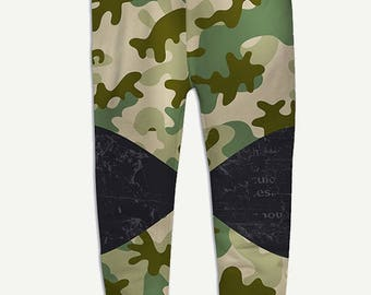 Camouflage Jogger Pants For Womens Camo Pants Green Military Joggers Gift For Her