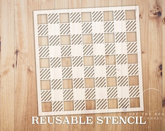 Buffalo Check Plaid STENCIL | Laser Cut | Reusable | Multiple Sizes | Pattern STENCIL | Fast Shipping