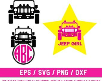Jeep svg, Jeep svg file, Jeep cut file, Car svg, Jeep Girl svg, Jeep Monogram, Jeep Silhouette, Jeep Vector, Jeep Digital
