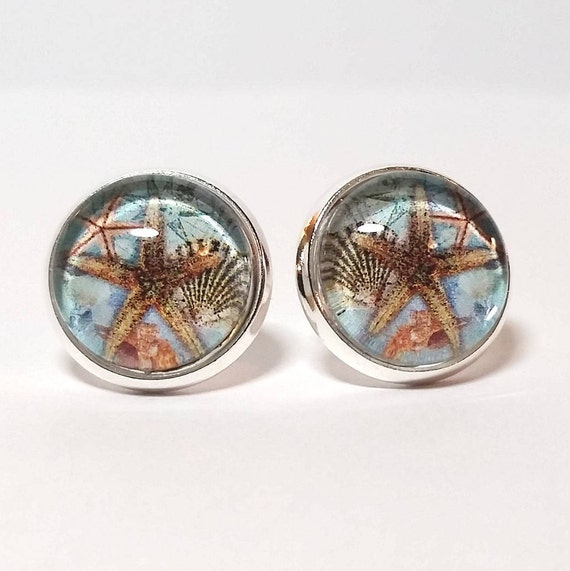 WHOLESALE-Starboard Window Earrings, Available in silver, bronze or rose gold, Stud or French Wire