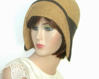 Miss Fisher Downton Abbey cotton straw Gatsby cloche