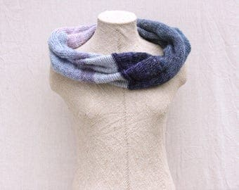 Mobius scarves / Christmas knit gift / Convertible infinity cowl / mohair neck warmer / Chunky knit scarves - Dawn 3