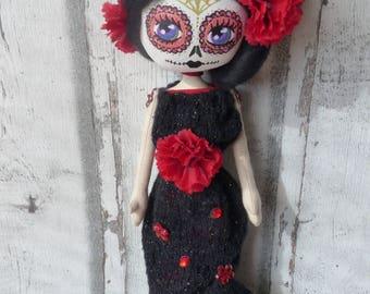 Nina rag doll (doll, doll, ooak doll art doll handmade rag)