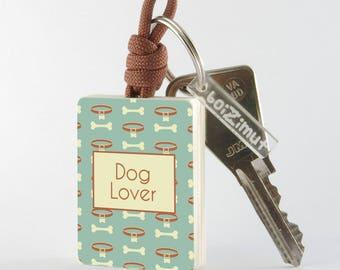 "Key fob ""Dog Lover"""