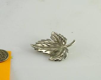 Tiffany & Co Sterling Maple Leaf Brooch