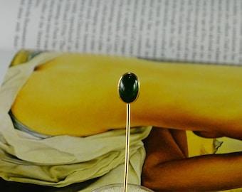 14 KT Gold Jade Stick Pin