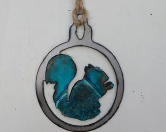 Patina Squirrel Ornament