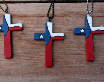 Texas Cross, Rearview Mirror, Mirror Cross, Car Charm, Texas Flag, Wooden Cross, Hanging Cross Charm, Car accessories, Cross For Car, Texas