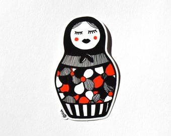 Matriochka Sticker Illustration