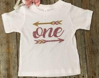 ONE - Glitter Infant/Toddler Shirt