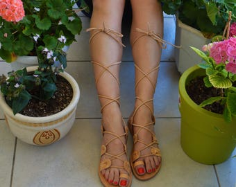 Gladiator Sandals, Women Leather Sandals, Greek Gladiator Sandals, Lace up sandals, Leather Tie up Sandals, Women's Lace Up Gladiators