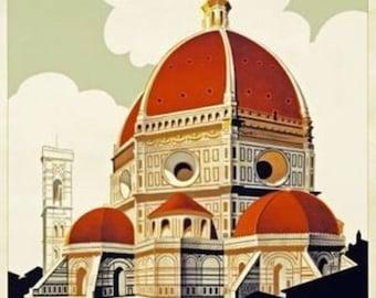 Italy Florence Firenze Poster A3 or A4 Matt