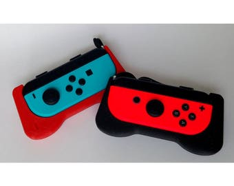 Nintendo Switch Joy Con Comfort Grip   Custom JoyCon   3D Printed   Mario   SNES   Legend of Zelda   Gaming   Geek