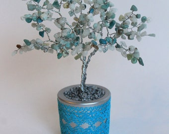 Amazonite gemstone tree - a symbol of peace/ Tree of luck