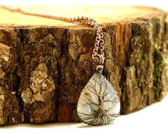 Tree of life, Agate necklace