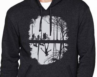 Stranger Things Hoodie - Inspired by the Upside Down Stranger Things - Screenprinted Demogorgon sweatshirt - Stranger things inspired hoodie