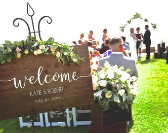 Welcome Wedding Sign, Wedding Welcome Wood Sign, Wood Welcome Wedding Sign, Wedding Signs, Wood Wedding Sign, Custom Wedding Signage, Chic