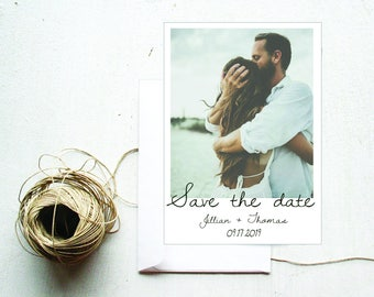 Save The Date Printable Polaroid   5x7 Digital File  Photo Save The